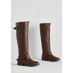 Safari Made to Orchard Boot - Wide Calf (93 CAD) ❤ liked on Polyvore featuring shoes, boots, brown, boot - bootie, flat boot, brown bootie, brown mid calf boots, brown wide calf boots, brown ankle boots and buckle ankle boots