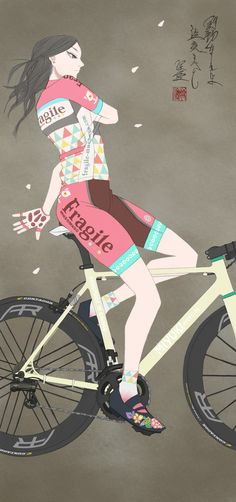 Le Tour de France 2014 >> Wonderful #bikeart by Miyuki