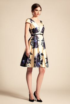 blue blossoms (reworked Fifties couture proportion)