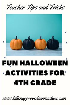 Halloween 4th grade party ideas and activities. Looking for Halloween PBL math activities or 4th grade math activities for Halloween? Look no further! #iteach4th