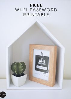 Editable Printable Wifi Password Sign from Tomfo