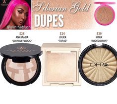 Jeffree star highlighter dupes in the shade Siberian Gold // Kayy Dubb ♡