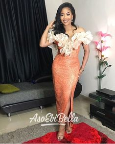 Find Amazing latest african fashion look 5637 Aso Ebi Lace Styles, Latest Aso Ebi Styles, Kente Styles, 70s Fashion, Asian Fashion, Look Fashion, Fashion Outfits, African Lace, African Dress