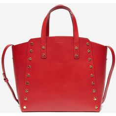 Abby Tote ❤ liked on Polyvore featuring bags, handbags, tote bags, over the shoulder handbags, red tote bag, red tote purse, handbags totes and red tote