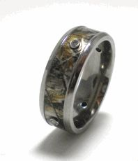 Mens Camo Diamond Ring