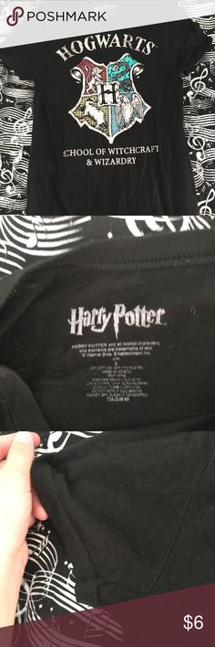 HP HOGWARTS SHIRT Brand new. Washed once. Items are shipped out clean and dry. Items never exposed to smoke or animals. Ask me questions down below and use the offer button. I DO NOT TRADE OR TAKE TRANSACTIONS OUTSIDE OF POSH. Hot Topic Tops Tank Tops