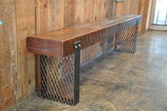 Hargrove Reclaimed Wood Bench by hautehabitats on Etsy, $325.00
