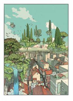 living paradise illustration