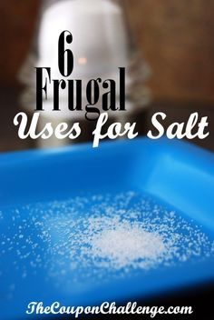 Did you know that salt has other uses than just seasoning for your food?  Check out these 5 frugal uses for salt.  Salt is inexpensive, so put it to work in your house.
