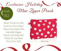 Swirl Dots Mini Zipper Pouch - Thirty-One Gifts your Clinton, MS independent senior consultant