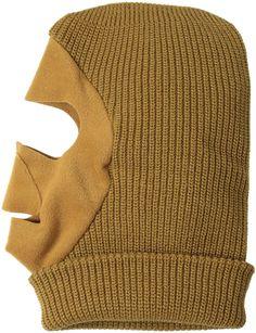 3b3c3e2043872 Men s Knit Fleece Facemask - Duck Brown - C411FC5VOC3 - Hats  amp  Caps