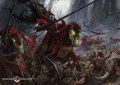Monster Concept Art, Fantasy Monster, Warhammer Art, Warhammer Fantasy, Fantasy Armor, Dark Fantasy Art, Vampire Counts, Vampires And Werewolves, Vampire Art