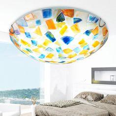 Tiffany pastoral Mediterranean ceiling lamp warm bedroom lamp pastoral corridor balcony creative shell Ceiling Lights DF139