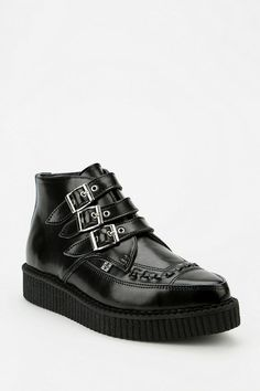 T.U.K. Tri-Buckle Pointy-Toed Creeper Boot