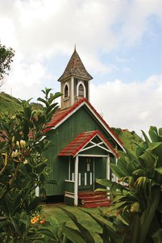 Old Congregational Church on the far side of Maui, in Kahakuloa Valley