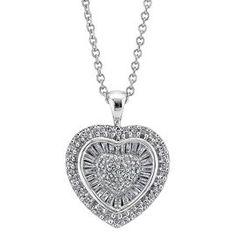 1/2ct TW Heart-Shaped Diamond Pendant - Helzberg Diamonds