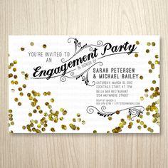 Confetti Party Printable Invitation  by socialitepaperworks, $13.50