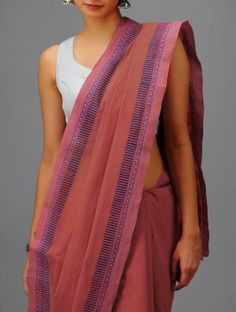 Red-Turquoise Andhra Cotton Saree