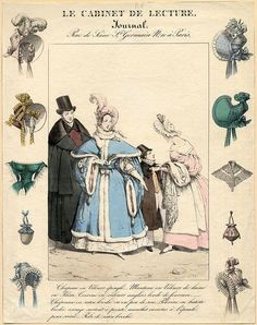 French fashions and hats, 1830 by peacay, via Flickr