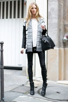leather casual style