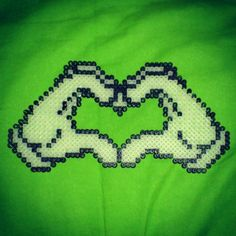 Love heart hama beads by srtadownloading