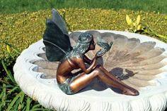 Bird Fairy Statue Garden Decor