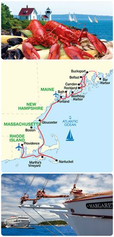 American Cruise Lines ~ Grand New England Lobster Cruise ~ June 13 and August 22, 2015 ~ Providence to Portland ~ from $5525 ~ Discover the nautical legacies and seafaring heritage of New England's rustic seaport villages on a 10 Night cruise. Explore whaling museums, seaside mansions, and the picturesque ports of Nantucket, and Martha's Vineyard. Enjoy specially prepared lobster dishes on select nights. Book your cruise today, contact jfeathersjr@gmail.com for more info.