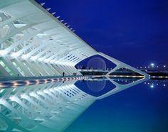 City of the Arts and Sciences in Valencia, Spain, designed by Santiago Calatrava. Photograph: Jose Fuste Raga/Corbis