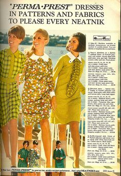"'Perma-Prest', from a 1969 Sears catalog  'cause all the cool kids were ""neatniks"""