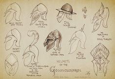 Sketch:Helmets of Gondolindrim by aautio.deviantart.com on @deviantART