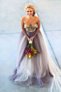 20 Gorgeous Dip Dye Wedding Dresses You've EVER Seen!