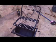 Metal Projects, Welding Projects, Bbq Grill, Grilling, Drum Smoker, Grilled Wings, Conversation Area, Camper Van Conversion Diy, Metal Dining Table
