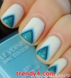 Pretty Blue Nail Art Designs 2014