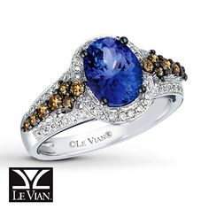 Beautiful.....I want this!! Le Vian Tanzanite Ring 1/2 ct tw Diamonds 14K Vanilla Gold
