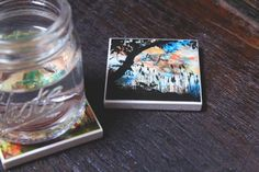 Shot Glass Coasters, Set of 2, Quote Coasters, Tree Coasters, Mini Coaster Set, Mini Gifts, Quote Magnets, Tree Magnets, Coaster Magnets by LMNtalVibes on Etsy