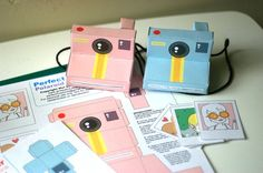 Perfect Paper Polaroid Cameras  includes 2 colours door girliepains, $4.00