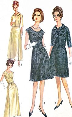 1960s Dress Pattern Simplicity 6243 Day or Evening by paneenjerez, $18.00