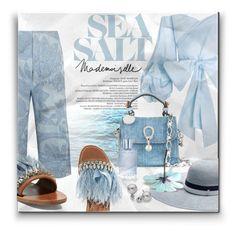 """Sea salt"" by qiou ❤ liked on Polyvore featuring Acne Studios, Maison Michel, Ermanno Scervino, Bellagio, Miu Miu, Orlane and Blue Nile"