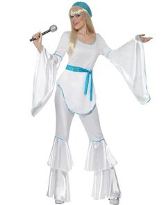 70s Blue Super Trooper ABBA Womens Costume