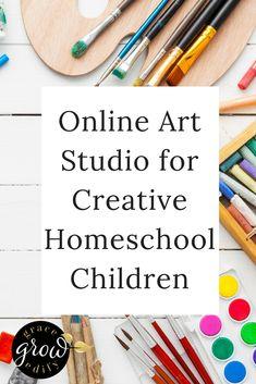 Online Art Studio for Creative Homeschool Children | Homeschool Art Curriculum | Homeschooling Art | Teaching Art | Homeschool Crafts | Online Art Programs | Homeschool Art Program | #homeschool #homeschooling #arteducation #artwork