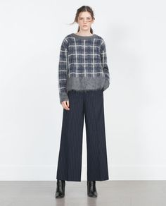 Image 1 of OVERSIZED MOHAIR SWEATER from Zara