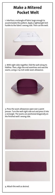 Watch as Threads Magazine demonstrates how to sew a pocket welt.