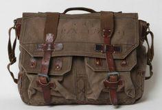 Vintage Ralph Lauren military messenger bag
