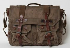 Vintage Ralph Lauren military messenger bag