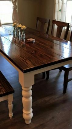 Custom built farmhouse tables