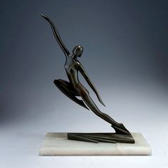 Art Deco sculpture by C. Rossi