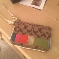 Authentic Coach wristlet Gently worn condition. Coach Bags Clutches & Wristlets