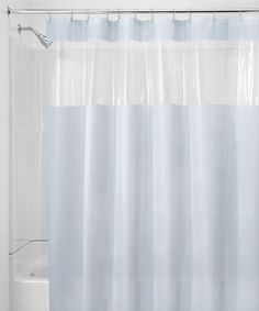Antibacterial And Antimicrobial Mildew Resistant See Through Top Clear White Vinyl Shower Curtain 72 Sq