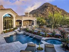 This Magnificent Tuscan-Inspired Home Designed by Lee Hutchison is located on a cul-de-sac lot on the Western slope of Pinnacle PeakTAKE A TOUR HERE:http://www.theopulentlifestyle.info/2014/07/this-magnificent-tuscan-inspired-home.html