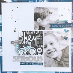 """Bella Blvd's Alex Collection - """"Serious"""" Layout by Jamie Pate"""